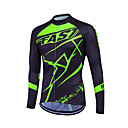 cheap Cycling Jersey & Shorts / Pants Sets-Fastcute Men's Women's Unisex Long Sleeve Cycling Jersey Sports Classic Fashion Plus Size Bike Sweatshirt Jersey Top, Breathable Quick Dry Reflective Strips Coolmax® 100% Polyester / Stretchy