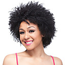 cheap Human Hair Capless Wigs-short black curly fluffy wig afro african american wigs for black women synthetic peruca cosplay fashion party
