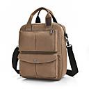 cheap Shoulder Bags-Men's Bags Canvas Shoulder Bag Zipper Solid Colored Black / Brown / Khaki