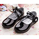 cheap Girls' Shoes-Girls' Shoes Patent Leather Spring & Summer Mary Jane Flats Walking Shoes Sparkling Glitter for White / Black / Red