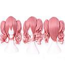 preiswerte Duschvorhänge-Synthetische Perücken / Perücken Glatt Rosa Mit Pferdeschwanz Synthetische Haare Rosa Perücke Damen Kappenlos Rosa