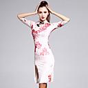 cheap Latin Dance Wear-Latin Dance Dresses Women's Training Spandex Pattern / Print Half Sleeves Natural Dress