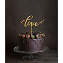 preiswerte Tortenfiguren & Dekoration-Tortenfiguren & Dekoration Klassisch Monogramm Acryl Hochzeit mit Blume 1 pcs Geschenkbox