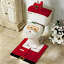 cheap Anime Costumes-Santa Snowman Deer Spirit Toilet Seat Cover Rug Bathroom Set With Paper Towel Cover For Christmas Gift New Year Home Decorations