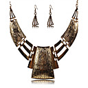 cheap Necklaces-Women's Jewelry Set - Silver Plated Vintage, European, Festival / Holiday Include Drop Earrings / Statement Necklace Gold / Silver For Party / Daily / Casual