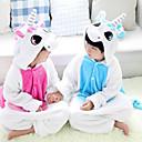 cheap Kigurumi Pajamas-Kid's Kigurumi Pajamas Unicorn Animal Onesie Pajamas Flannel Toison Blue / Pink Cosplay For Boys and Girls Animal Sleepwear Cartoon Festival / Holiday Costumes