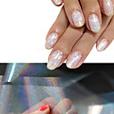 baratos Strass & Decorações-4 pcs Autocolantes de Unhas 3D arte de unha Manicure e pedicure Glitters / Fashion Diário / Etiquetas de unhas 3D