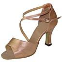 abordables Tacones de Mujer-Mujer Zapatos de Baile Latino / Zapatos de Salsa Satén Sandalia / Tacones Alto Hebilla Tacón Personalizado Personalizables Zapatos de