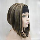 cheap Synthetic Half Wigs-Synthetic Wig Straight / kinky Straight Synthetic Hair Brown Wig Women's Capless