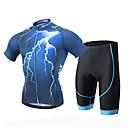 billige Mode Armbånd-XINTOWN Herre Kortærmet Cykeltrøje og shorts - Sort Cykel Shorts Trøje Tøjsæt, 3D Måtte, Hurtigtørrende, Ultraviolet Resistent, Åndbart,
