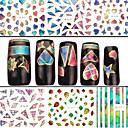 baratos Adesivos de Unhas-4 Nail Art Sticker Autocolantes de Unhas 3D Abstracto maquiagem Cosméticos Prego Design Arte
