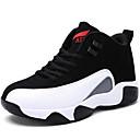 זול נעלי בד ומוקסינים לגברים-בגדי ריקוד גברים נעלי נוחות סינטתי סתיו / חורף נעלי אתלטיקה ריצה שחור