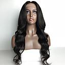 billige Bageredskaber-Menneskehår Helblonde Paryk Lige Paryk Natural Hairline Dame Kort / Medium / Lang Blondeparykker af menneskehår / Ret