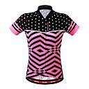 זול כפפות רכיבה על אופניים-WOSAWE בגדי ריקוד נשים שרוולים קצרים חולצת ג'רסי לרכיבה - ורוד מסמיק אופניים ג'רזי, נושם, תומך זיעה פוליאסטר