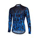 cheap Cycling Jerseys-Fastcute Men's Women's Long Sleeve Cycling Jersey White Blue Gradient Plus Size Bike Sweatshirt Jersey Top Thermal / Warm Breathable Quick Dry Sports Winter Polyester Coolmax® 100% Polyester Mountain