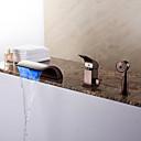 hesapli Banyo Küvet Muslukları-Küvet Muslukları - Modern Yağlı Bronz Roma Küveti Seramik Vana