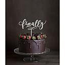 رخيصةأون ديكورات الزفاف-كعكة توبر كلاسيكيClassic Theme مونوغرام أكريليك زفاف مع زهور 1pcs مربع هدية
