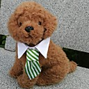 abordables Ropa para Perro-Perro Corbata/Pajarita Ropa para Perro Ajedrez Negro Café Rojo Verde Arco iris Algodón Disfraz Para mascotas Hombre Vacaciones Cosplay
