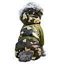 billige Hundetøj-Kat Hund Frakker Dragter Hættetrøjer Hundetøj camouflage Brun Rød Grøn Blå Lys pink Bomuld Kostume For kæledyr Herre Dame Vindtæt Hold