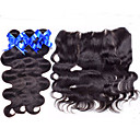 cheap One Pack Hair-Peruvian Hair Body Wave Human Hair Weaves 4 Pieces 0.35