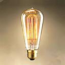 abordables Lámpara de Mesa-1pc 40 W E26 / E27 ST64 Blanco Cálido 2300 k Retro / Decorativa Bombilla incandescente Vintage Edison 220-240 V