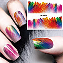 billige Heldækkende negleklistermærker-1 pcs Vandoverførings klistermærke Negle kunst Manicure Pedicure Mode Daglig