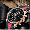 preiswerte Modische Uhren-Herrn Armbanduhr Armbanduhren für den Alltag Stoff Band Freizeit / Modisch Schwarz / Weiß / Edelstahl / Jinli 377