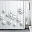 voordelige Kostuumpruik-Douche Gordijnen Modern Mengvezel Poly en Katoen Flora/Botanisch Door Machine
