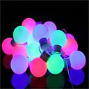 voordelige LED-lampen-5M Verlichtingsslingers 40 LEDs Dip LED Warm wit Dimbaar / Kleurveranderend <5 V / IP44