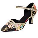 ieftine Pantofi Moderni-Pentru femei Pantofi Dans Latin / Pantofi Moderni Paillertte / Satin Sandale / Călcâi Sclipici Strălucitor / Cataramă / Flori Toc