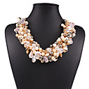 cheap Jewelry Sets-Women's Crystal Pendant Necklace / Statement Necklace - Crystal, Imitation Pearl European, Fashion White, Black, Rainbow Necklace Jewelry For Wedding, Party, Daily
