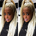 cheap Synthetic Capless Wigs-Synthetic Lace Front Wig Straight Blonde Synthetic Hair Natural Hairline / African American Wig / Braided Wig Blonde Wig Women's Long Lace Front