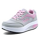 preiswerte Damen Sportschuhe-Damen Schuhe Tüll Frühling / Sommer / Herbst Sneakers Walking Keilabsatz / Creepers Schnürsenkel Blau / Rosa