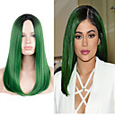 cheap Bathroom Sink Faucets-Synthetic Wig Straight Green Synthetic Hair Green Wig Long / Very Long Green