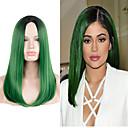 billige Syntetiske blondeparykker-Syntetiske parykker Lige Grøn Syntetisk hår Grøn Paryk Lang / Meget lang Grøn