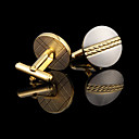 cheap Men's Cufflinks-Golden Cufflinks Copper / Rhinestone Gift Boxes & Bags / Fashion Men's Costume Jewelry For Wedding / Party / Daily