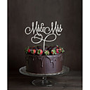 cheap Cake Toppers-Cake Topper Classic Theme Monogram Acrylic Wedding with Flower 1 Gift Box
