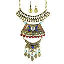 abordables Juego de Joyas-Mujer Conjunto de joyas - Personalizado, Moda Incluir Collar / pendientes Dorado / Plata Para Fiesta / Diario / Casual / Pendientes / Collare