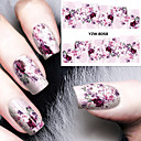 cheap Nail Stickers-diy decals nails art water transfer printing stickers accessories for manicure salon yzw 8058