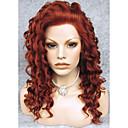 billige Syntetiske parykker med blonde-Syntetiske parykker Krøllet Syntetisk hår Rød Parykk Blonde Forside Rødbrun
