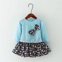 baratos Bell & Locks & Mirrors-Menina de Vestido,Casual Floral Algodão Primavera / Outono Azul / Rosa / Amarelo
