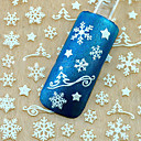 cheap Nail Stickers-1pcs christmas 3d glitter nail art stickers winter manicure nails decals foil decorations tool snowflake design