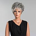 cheap Racks & Holders-Human Hair Capless Wigs Human Hair Curly Pixie Cut With Bangs Side Part Short Wig Women's