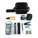 billige Værktøjssæt-9 i en fiberoptisk FTTH værktøjskasse med fc-6s fiber spaltekniven og optisk powermeter 5 km visuel fejlfinder afisoleringstang