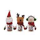 cheap Christmas Decorations-1PC Christmas Pet Green Candy Jar - Santa Claus / Snowman / Elk(Random Color)