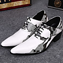 halpa Miesten Oxford-kengät-Miesten kengät Nahka Comfort Oxford-kengät varten Juhlat Valkoinen