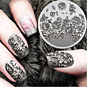 cheap Nail Stamping-1 pcs Stamping Plate Template Nail Art Design Fashionable Design Stylish / Fashion Daily