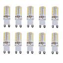 billige LED-lyspærer-10pcs 150-180 lm E14 / G9 LED-lamper med G-sokkel T 64 LED perler SMD 3014 Vanntett / Dekorativ Varm hvit / Kjølig hvit / Naturlig hvit 220-240 V / 10 stk. / RoHs