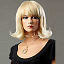 cheap Synthetic Wigs-Synthetic Wig Wavy Synthetic Hair Blonde Wig Women's Medium Length Capless