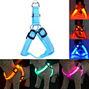 cheap Dog Collars, Harnesses & Leashes-Cat / Dog Harness / Leash / Training LED Lights / Adjustable / Retractable Solid Colored Nylon Blue / Pink / Dark Red